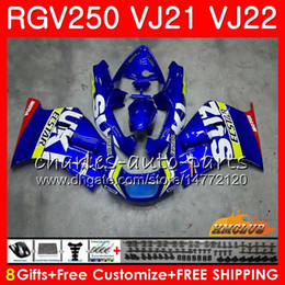 rgv fairings Canada - Bodys For SUZUKI RGV250 VJ21 88 89 90 91 92 93 SAPC Frame 20HC.0 RGV-250 RGV 250 VJ22 1988 1989 1990 1991 1992 1993 Fairing Factory blue new