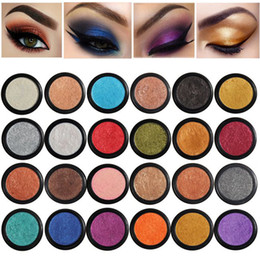full color makeup cosmetic Canada - PHOERA Professional Glitter Eyeshadow Single Color Palette 24 Colors Salon Pigment Eye Shadow Makeup Brand Beauty Make Up Cosmetic