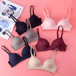 f88fd793364e2 2019 new Japanese thin section no trace no steel ring sports underwear  ladies bra breathable gathering high school students girl bra