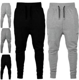 a5ea311903 Mens Pants Elastic Waist Zipper NZ - Mens Athletic Elastic Waist Pants  Solid Color Pantlones Designer