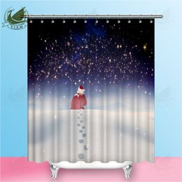 $enCountryForm.capitalKeyWord NZ - Vixm Fir Tree Forest With Christmas Tree And Snowman Landscape Shower Curtains Waterproof Polyester Fabric Curtains For Home Decor