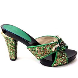 e8a0a02cb1e Green Sandals For Wedding UK - New Green Color Italian Lady Sexy High Heels  Pumps Decorated