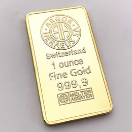 Coin Banks Wholesale Australia - Swiss Credit Bank issued gold nuggets foreign commemorative gold nuggets coins foreign currency square gold plated medals