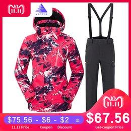 VECTOR Brand Ski Suit Women Warm Waterproof Skiing Suits Set Ladies Outdoor  Sport Winter Coats Snowboard Snow Jackets and Pants C18112301 7dcc143de