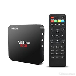 Wifi game player online shopping - android tv box V88 plus Rockchip Quad Core K VP9 H Miracast DLNA TV Box android WiFi LAN HD Games Smart Media Player