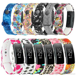 $enCountryForm.capitalKeyWord Australia - Silicone Replacement Wrist Band Soft Strap Printing Colour Cover For Fitbit Inspire   Fibit Insipre HR Smart Watch VS Fitbit Charge 2 Baand