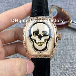 $enCountryForm.capitalKeyWord Australia - Top Luxury Men Wristwatch Swiss Automatic Sapphire Crystal Rose Gold Case skull Dial calfskin strap Pin Buckle Solid Case Back Mens Watch