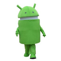 China High quality Android Robot Mascot Costume Cartoon Character Costume Adult Fancy Dress Halloween carnival costumes EMS Free Shipping suppliers