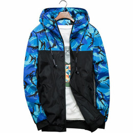 3c6c5911d3e2c 2019 New Casual Camouflage Jacket Men Hooded Bomber Jackets Mens Brand Slim  Fit Windbreaker Hip Hop Outerwear 6xl Camo Clothes