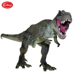 Wood Animal Figured Toys NZ - Jurassic World Park Tyrannosaurus Rex Dinosaur Model Toys Animal Plastic Pvc Action Figure Toy For Kids Gifts C19041501