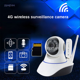 Cctv Wifi Ip Australia - 720P Wireless IP Webcams wi-fi alarm wifi camera surveillance 360 degree Pan Tilt 4G cctv Webcams 3G with sim card slot ZA-ZU