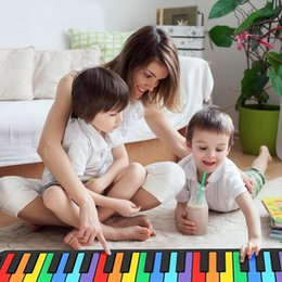 Wholesale Piano Keyboards Australia - 49 Keys Hand Roll Keyboard Portable Soft Silicone Foldable Roll Up Piano Baby Early Learning Educational Toys Kids Musical Gifts
