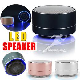 $enCountryForm.capitalKeyWord Australia - A10 Mini Wireless Bluetooth Speaker LED Flash Lighting Stereo HIFI Wireless Portable Music Sound Box Subwoofer Loudspeakers For Phone PC