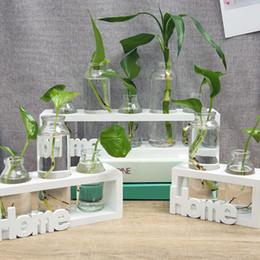 $enCountryForm.capitalKeyWord Australia - Glass and Wood Vase Planter Terrarium Table Desktop Hydroponics Plant Bonsai Flower Pot Hanging Pots with Wooden Tray Home Decor
