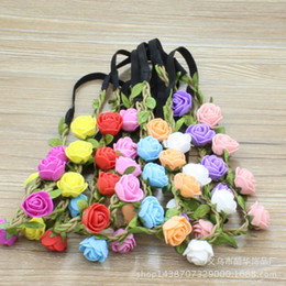 Trading Hair Australia - New Korean cute garland children's photography hair accessories girls head flowers foreign trade adult headwear wholesale