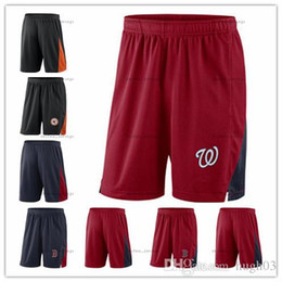 navy blue baseball jerseys UK - Men's Orioles WA Nationals Red Sox Navy Blue Red Franchise Performance Shorts Size M L XL XXL XXXL Baseball Shorts Jerseys