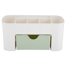 Green Box Containers Australia - Cosmetic Organizer Plastic Jewelry Box Makeup Storage Box Home Desk Sundries Containers Necklace Polish Earring Storage Case
