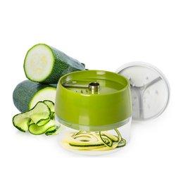 Vente en gros Mini Légumes Cutter Spirale Trancheur De Poche Mandoline Cuisine Gadgets Accessoires Hachoir À Gratins Hachoir Minceur avec 3 Lames