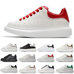 thick sole sneakers NZ - Cheaper designer shoes fashion luxury leather sneakers for men women white black Platform shoes Thick-soled height increasing size 36-44