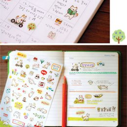$enCountryForm.capitalKeyWord Australia - 6 sheets New Cartoon Kawaii Paper Scrapbooking Cat Stickers Girl Gift Cute Korean Stationery Sticky phone Stickers