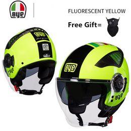 $enCountryForm.capitalKeyWord Australia - nero yellow motorcycle helmet 3 4 open face summer jet scooter half face motorbike helm capacete casco four season helmets