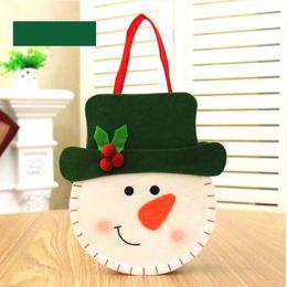 $enCountryForm.capitalKeyWord Australia - 200pcs Cute Cartoon Elk Gift Holders Bags Candy Chocolate Bag Package Pouches Handbag Christmas Decoration Supplies Free Shipping
