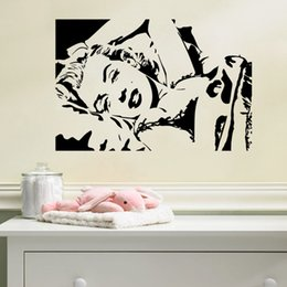 Wall Stickers Sexy Girls NZ - Sexy Marilyn Monroe Wall Sticker Vinyl Self-adhesive Beauty Wall Art for Living Room Girls Room Decoration