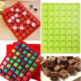 $enCountryForm.capitalKeyWord Australia - New 1Pc Silicone 48 Alphabet Letter Chocolate Candy Mold Cookie Cube Moulds DIY Cake Decoration