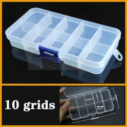 bead organizer container Australia - Container 10 grid Plastic Box Practical Adjustable Compartment Jewelry Bead storage case Screw Holder Case Display