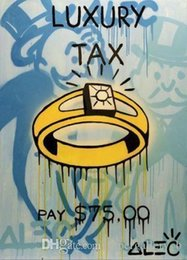 highest quality digital prints Canada - Alec Monopoly Banksy Graffit Luxury tax oil painting Handpainted & HD Print Wall Art Home Decor on High Quality Thick Canvas g207