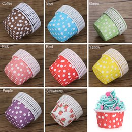 Discount cupcake baking - Cupcake Paper Muffin Cupcake Dot Decorate Paper Grease-proof Liners Baking Case Mold Decorate Cake Baking Wrapper