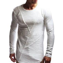 Muscle Fit T Shirts Australia - Men Boys Slim Fit O Neck Long Sleeve Muscle Tee T-shirt Casual Tops Blouse Size