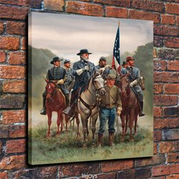 Civil war art prints online shopping - American Civil War Mort Kunstler Pieces Canvas Prints Wall Art Oil Painting Home Decor Unframed Framed
