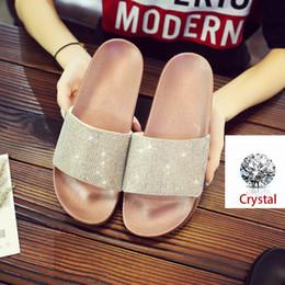 f877ee56604d Bling Women Slippers Flip Flops Rhinestone Summer Slides Women Shoes  Crystal Diamond glitter Beach Slides Outside Flat Sandals