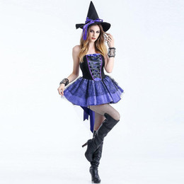 f1e8e5b735 Sexy witch coStumeS women online shopping - Adult Women Sexy Halloween  Short Dress Gothic Queen Witch