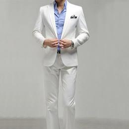 Beige Slim Suits For Men Australia - Hot Sale Fashion Mens Elegant Wedding Suits High Quality Slim Fit Business Formal Dress Suit For Men (Jacket+Pants)