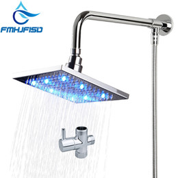 hose bath Australia - Bath Shower Faucet Accessories Square LED Shower Head Shower Arm Plumping Hose Diverter Cartridge Valve for Choose
