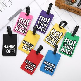 label board Australia - English Letter pvc soft Suitcase Luggage Tags ID Address Holder Silicone Identifier Label Suitcase Tag boarding tag luggage listing