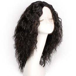 Human Hair Lace Weave Australia - Synthetic Lace Front Wig Water Wave Weave Heat Resistance Synthetic Hair Simulated Human Hair Wig Middle Part Long Weave Lace Wig Synthetic