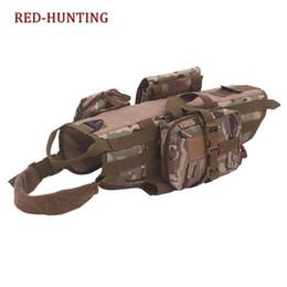 black molle tactical vest 2019 - Tactical Service Dog Vest Training Molle Harness Tactical Dog Training Vest Harness with 3 Pouches cheap black molle tac