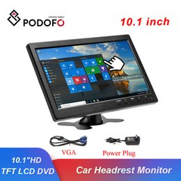 "lcd monitor inch hdmi NZ - Podofo 10.1"" LCD HD Car Headrest Monitor HDMI VGA AV USB SD TV&PC Display 2 Channel Video Input Security Monitor Remote Control"