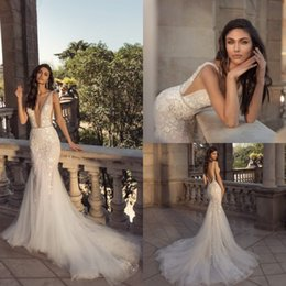 $enCountryForm.capitalKeyWord NZ - Julie Vino 2020 Mermaid Wedding Dresses With Beading Belt Deep V Neck Lace Bridal Gowns Backless Beach Wedding Dress Vestido De Novia