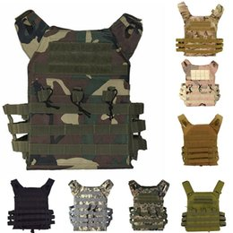 Discount tactical combat vest black - Camouflage Equipment Tactical Vest Paintball Hunting Vests Tactical Vest Outdoor Sport CS Wargame Combat Gear