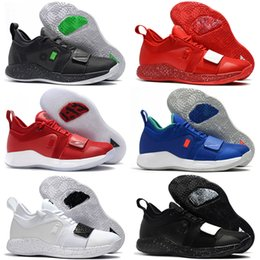 0e8e0a1a938f4 2019 PG 2.5 University Red Opti Yellow Men Kids Basketball Shoes Racer blue  White Black Wolf Grey Mens Paul George sports sneakers