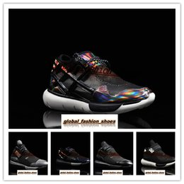 03b99235f8b7 High Quality Y-3 Qasa Elle Lace For Men and Women Knit Running Shoes All  Black White Y3 Sneakers 36-45