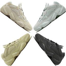 273a63b1e 2019 New 500 Desert Rat Blush 500s Salt Super Moon Yellow Utility Black  mens running shoes for men women sports sneakers designer trainers