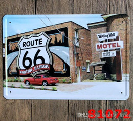 vintage tins NZ - Vintage Metal Tin Signs For Wall Decor Route 66 Iron Paintings 20*30cm Metal Signs Tin Plate Pub Bar Garage Retro Home Decoration 11595