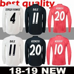 RONALDO 18 19 Real madrid soccer Jersey CR7 Long sleeves ASENSIO VALLEJO BENZEMA  BALE KROOS RAMOS MODRIC ISCO NAVAS LUCAS V football shirt 33855f80e