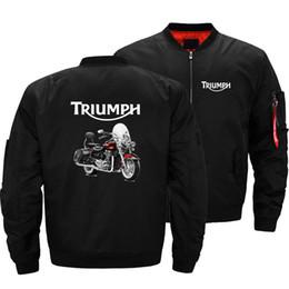 Pilot Motorcycle Jacket Australia - New Men Triumph Motorcycle Pilot Bomber Jacket Men Wind Breaker Coats Arm Fashion Outwear Coat Design Male Windbreak Jackets