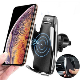 iphone 5s car charger holder Canada - New S5 Wireless Car Charger Automatic Clamping For Iphone  samsung android Air Vent Phone Holder 360 Degree Rotation 10w Fast Charging
